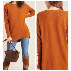 Anthropologie Naomi Slouchy Sweater Orange Large